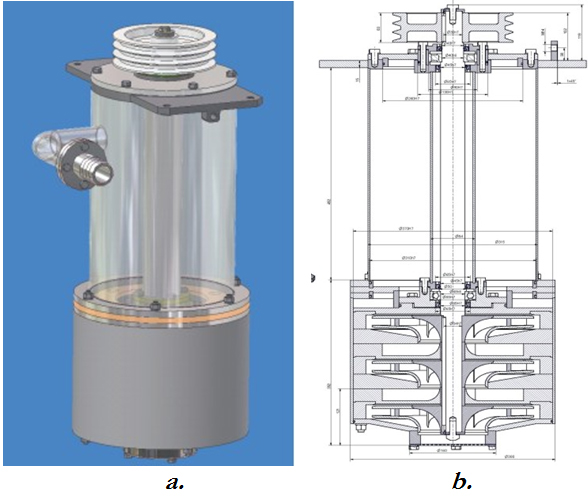Computerised 3D model and design of the low speed impeller pump