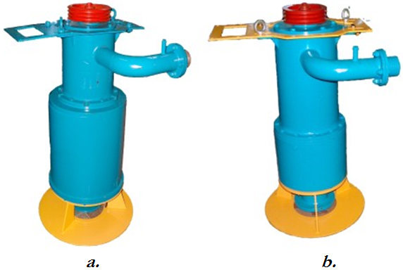 Industrial prototypes of the impeller pumps